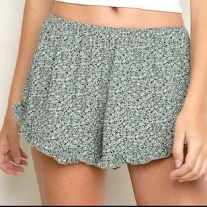 Daisy green vodi shorts